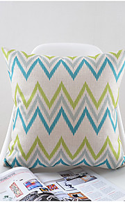 Wavy Pattern Cotton/Linen Decorative Pillow Cover