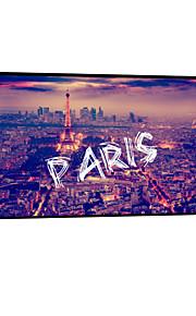 visuell star®night paris ramlösa kanfastryck redo att hänga stadsmur konst