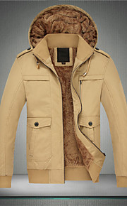 Autumn winter new detachable cap and pile thickening coat jackets men washed cultivate one's morality