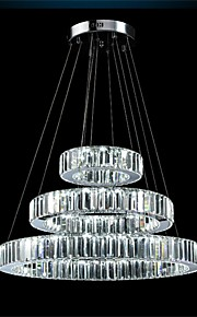 YL Modern LED Chandelier Lights Lighting Three Rings K9 Large Crystal Hotel Ceiling Light Fixtures
