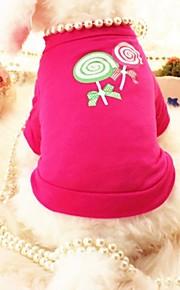 Rosa - Boda/Cosplay - Algodón - Camiseta - Perros/Gatos -