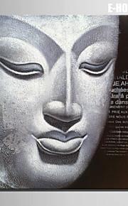 E-HOME® Stretched Canvas Art Buddha Head Decorative Painting  One Pcs