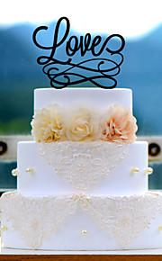 Love Acrylic Wedding Cake Topper