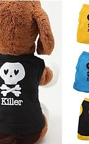 Negro/Azul/Amarillo - Boda/Cosplay - Algodón - Camiseta - Perros/Gatos -
