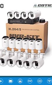 cotier®nvr kits 16ch 1u hd NVR 720p / 960p / 1080p / plug and play / netværk / H.264 IP-kamera n16b3h / kit