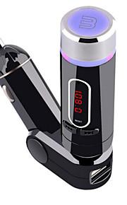 fm28b Bluetooth håndfri bluetooth med mp3 bil FM-sender med fjernbetjening 5v / 2a billader