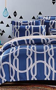 elegantes tiras azuis da cama conjunto de 4pcs tecido lixa grossa para o Outono&temporadas de Inverno uso