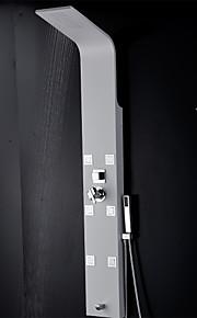 Robinet de douche - Contemporain - Thermostatique / Douche pluie / Jet de côté / Douchette inclue - Acier inoxydable ( Peintures )