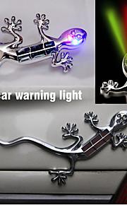 lampada auto bastone casa solare lucertola anti-collisione auto spia del flash LDE lampada decorativa