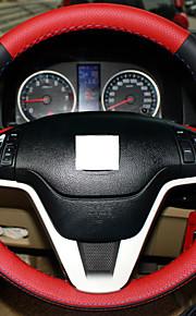 Xuji ™ rødt sort ægte læder rat dækning for honda CRV CR-V 2007 2008 2009 2010 2011