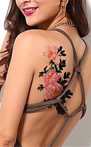 5Pcs/Set  Sexy Flash Waterproof Peony Flower Temporary Tattoo Sticker