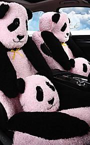amortiguador del coche de seguridad, invierno amortiguador de la felpa, cubierta de asiento, cubierta protectora, lindo panda de la
