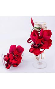 Tulip Flower Decoration Wineglass