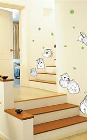 애니멀 / 카툰 / 패션 벽 스티커 플레인 월스티커 , PVC 70CM*50CM*0.1CM