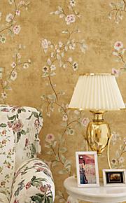 contemporaine papier peint art déco murale 3D américain de papier peint de fleurs pastorale couvrant art mural non-tissé de tissu