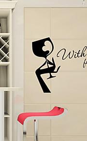 con amore per te PVC adesivi murali casa cucina decorazione