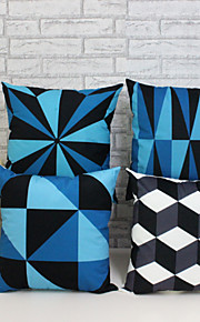 4st 3d geometriska mönster örngott soffa heminredning kuddfodral (17,7 * 17,7 tum)