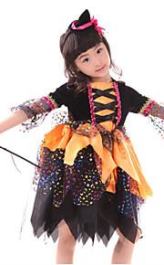 Halloween Children Witch Costume Cosplay Dress