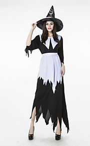 Cosplay Dresses Women's Nylon / Lycra Witch Halloween Costume Irregular Dress 3 Pieces