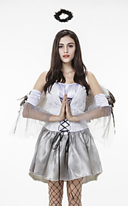 Performance Dresses Women's Performance Cotton / Matte Satin Pleated 4 Pieces White