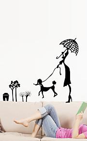 벽 스티커 벽 데칼 스타일 동물 만화 PVC 벽 스티커