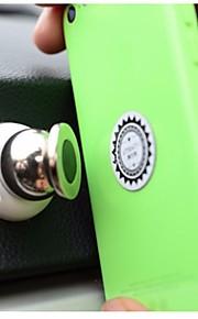 universel runde magnetisk mount mobiltelefon / gps stå holder 360 grader rotation til iphone samsung smartphone