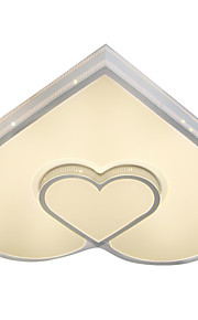 Cordiform/HeartShaped Ceiling Mounted LED Changable Light Source Color White/Warm White/Yellow  Modern Metal