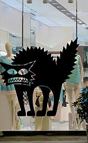 벽 스티커 벽 데칼 스타일의 할로윈 스릴러 고양이 PVC 벽 스티커