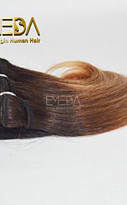новые 3шт / комплект Ombre человек девственница короткие волосы ткать мокрый волнистые Ombre 2 тон цвет # 4/27 8inch 6 цветов Доступный
