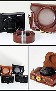 dengpin pu lederen cameratas tas te dekken met schouderband voor Sony DSC-hx90v hx90 wx500 (verschillende kleuren)