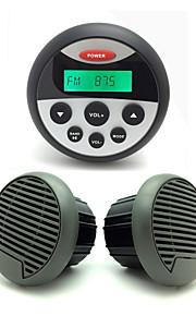 Waterproof Marine Radio Stereo ATV UTV Audio Receiver+3.5 Inch Waterproof Speakers