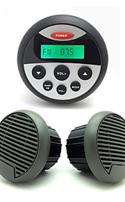 impermeabile ricevitore atv utv audio stereo radio marina + altoparlanti impermeabili 3.5 pollici