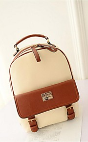 Women PU Bucket Backpack - Beige / Brown / Black / Khaki