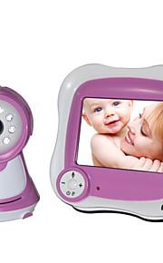 """IP-kamera til baby værelse nattesyn 3,5 """"LCD (1/3 tommer CMOS 380TV linje)"""
