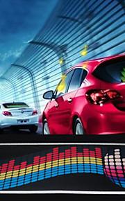 ritmo di musica automobile ha condotto la lampada istantanea adesivo attivata suono autoadesivo dell'automobile 60cm * 20 centimetri