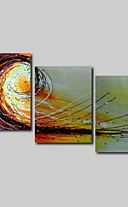 håndmalede olie maleri på lærred væg kunst abstrakt contempory beige abstrakt tre panel klar til at hænge