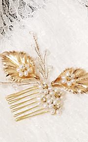 Celada Peinetas Boda / Ocasión especial Perla / Rhinestone / Cristal / Aleación Mujer Boda / Ocasión especial 1 Pieza