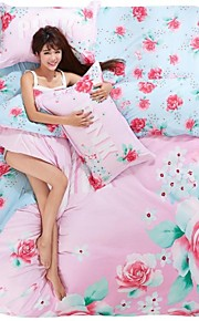 ihana vaaleanpunainen kukka vuodevaatteet sarja 4kpl neljän vuodenajan käyttöön
