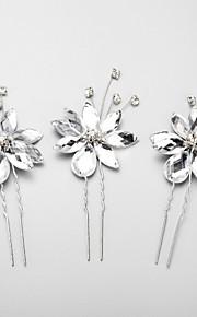Celada Pasador de Pelo Boda / Ocasión especial Rhinestone / Aleación Mujer / Niña de flor Boda / Ocasión especial 3 Piezas