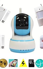 wifi cctv hd ip camera video inbraak alarm home security systeem met draadloze inbreker alarme sensor, babyfoon