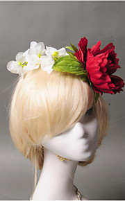 Women's Fabric / Plastic Headpiece - Wedding / Special Occasion / Casual Flowers 1 Piece