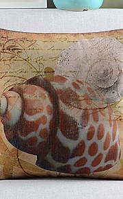 Conch Pattern Cotton/Linen Decorative Pillow Cover