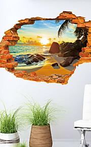 Romantik / Mote / Landskap / 3D Wall Stickers 3D mur klistermærker , Vinyl stickers 87*57cm