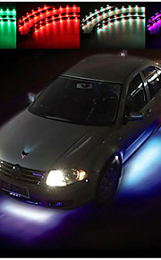 sæt 4 bil undervognen under glød-system neon 7 farve LED lys stribe