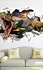 Dyr / Mote / fantasi / 3D Wall Stickers 3D mur klistermærker , Vinyl stickers 87*56cm