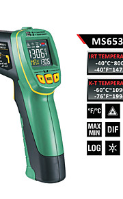 MASTECH thermomètre infrarouge écran couleur de ms6531a (-40 ℃ ~ 800 ℃) de la sonde de température de type K peut être connecté stockage