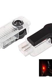 zweihnder®2pcs speciel bil projektion førte projektor dør skygge lys velkommen lys laser logo (audi)