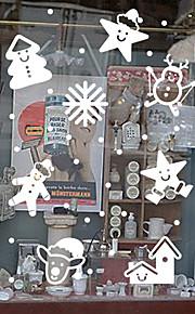 Christmas Window Sticker Contemporary , Art Deco 64cm*72cm