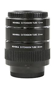 צינורות kooka KK-n68 פליז אלקטרוליטי AF מאקרו הארכה נקבעו לניקון (36mm 20mm 12mm) מצלמות SLR