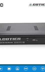 cotier®4ch 1u PoE NVR 1080p / 1Kr vga + 1Kr HDMI / ONVIF / NVR n4 / 1U-PoE